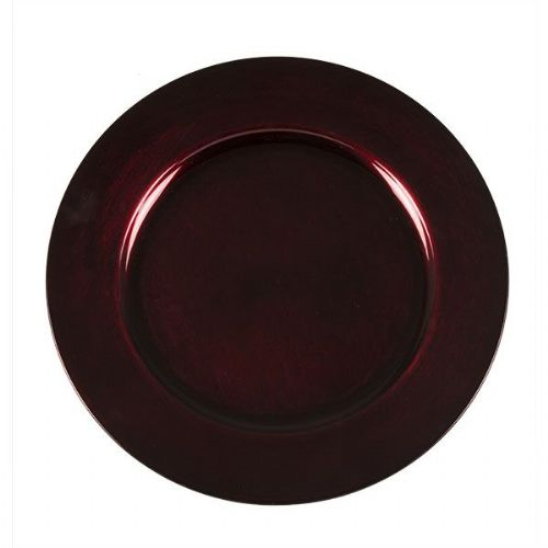 Beautiful Charger Plate / Underplates 33cm - DARK RED
